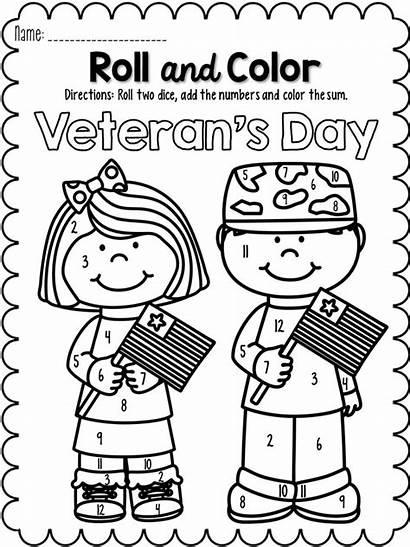 Veterans Kindergarten Pay Roll Teachers Coloring Math