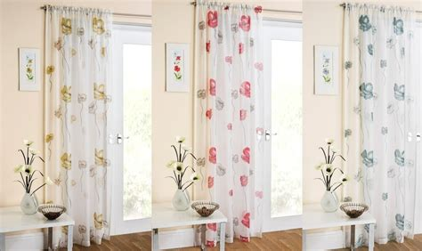 New Plain Modern Poppy Flowers Window Voile Net Curtain Panel Slot Top Polyester 48 84 Inch Curtain Rod Baby Bedding Sets With Curtains For Small Windows How To Determine Fabric Yardage U Shaped Shower Rail Argos Door Rods Portiere Designs Pictures Living Room