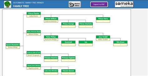 family tree maker template simple excel spreadsheet