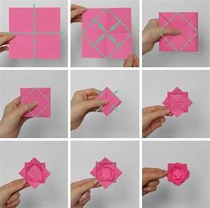 Einfache Papierblume Basteln : origami blume falten 7 ideen mit faltanleitung f r beliebte blumen ~ Eleganceandgraceweddings.com Haus und Dekorationen