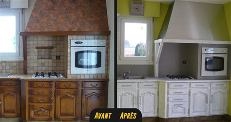 relooking cuisine avant apres relooking cuisine bois massif chene vannes rennes lorient