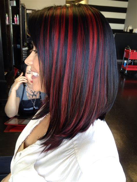 With Black Hair by Trendy Hair Highlights Black With Peek A Boos