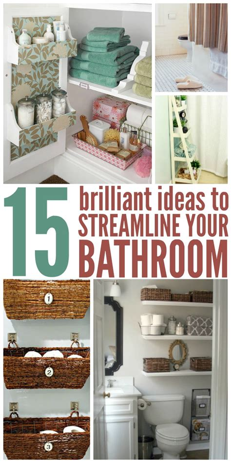 brilliant ideas  streamline  bathroom