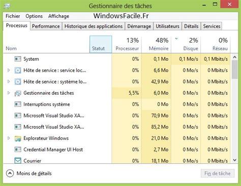 choisir un ordinateur de bureau ouvrir le gestionnaire de tâches windowsfacile fr