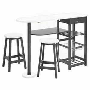 Table D Appoint Cuisine : table d 39 appoint cuisine 2 tabourets achat vente ~ Melissatoandfro.com Idées de Décoration