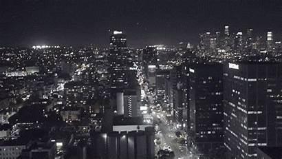 Angeles Giphy Night Gifs York Losangeles Skyline
