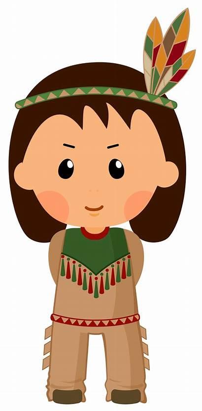 Native American Boy Thanksgiving Clipart Gracias Accion