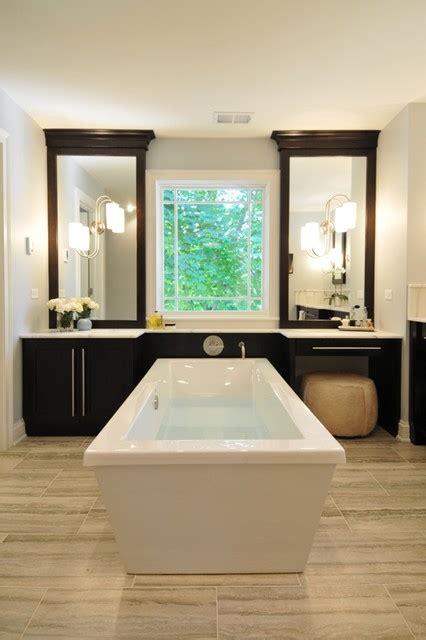 Serene Bathroom Dressed Silver by Spacious Serene Spa Modern Bathroom Chicago By The