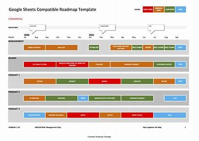 Roadmap Template Google Sheets Excel Drive Business
