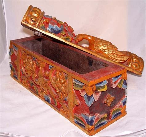 malaysian carved tribal wedding box for sale antiques