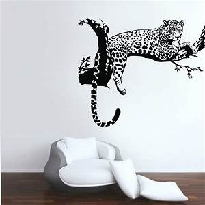 Leopard animals wall stickers vinyl decals kids room