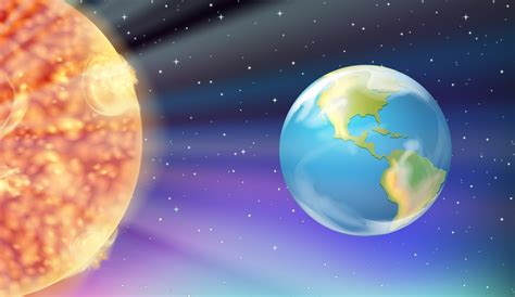 Earth and the Sun in galaxy 455587 Vector Art at Vecteezy