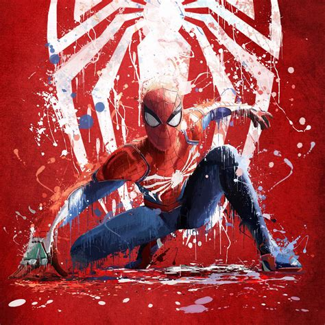 wallpaper spider man artwork ps red hd creative