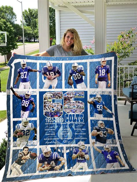 indianapolis colts quilt blanket societily