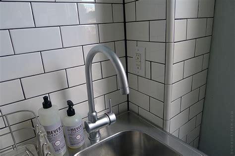tiling inside corners with subway tile kitchen tiling madness door sixteen