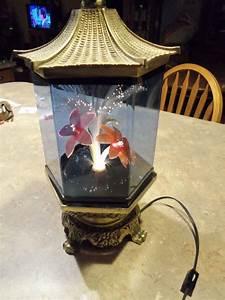 Chinese Fiber Optic Motion Table Flower Lamp Hexagon