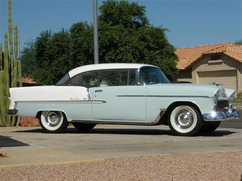 1955 bel air chevrolet door hardtop side lot vegas las