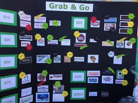Grab & Go Fundraising Board Filled With Gift Cards From Local Merchants To Benefit St. Paul Ideas For Fathers Day Things To Do Gifts Girlfriends Graduation Fun Toys 2 Year Olds Birthday Boyfriend Without Spending Money Gift Stores Westport Ct Expensive Father's Sharing Quotes 6 Old Boy Who Has Everything Uk