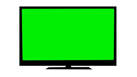 tv green screen template white tv on white background with a green screen noise and