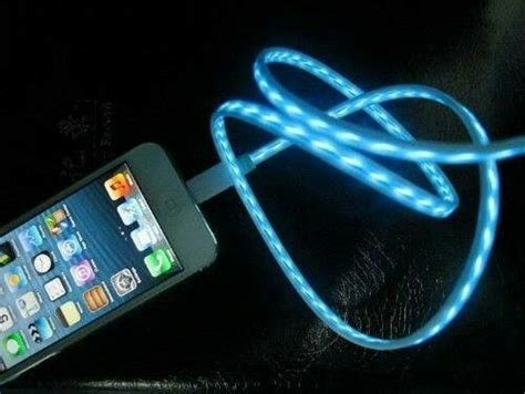 light up iphone charger a light up led iphone charger i want it