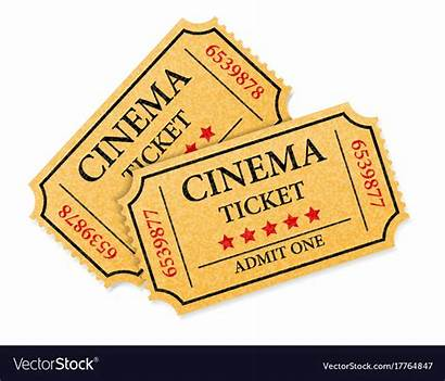 Cinema Ticket Vector Vectorstock Royalty
