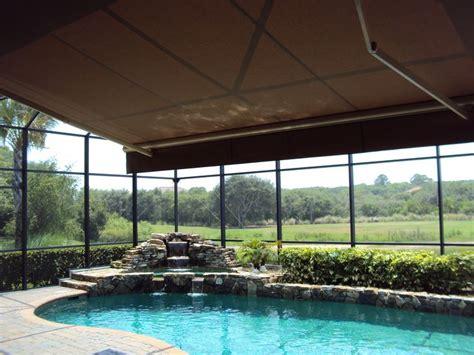 retractable awning  screened pool enclosure google search pool shade pool enclosures