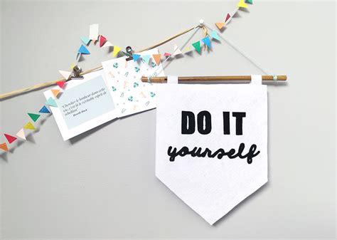 "Bannière ""do It Yourself""  Vert Cerise  Blog Diy  Do It"