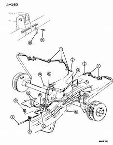 1994 Jeep Grand Cherokee Brake Lines And Hoses  Rear  Anti
