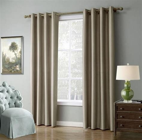 piece solid color window curtains  living room