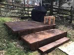 Pallet, Grill, Patio, Made, Entirely, From, Recycled, Pallets