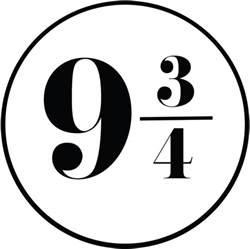 hogwarts alumni sticker platform 9 3 4 font forum dafont