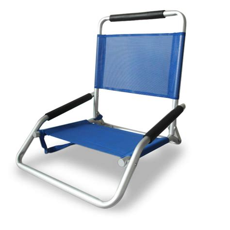 ostrich low sand chair blue chair beachkit