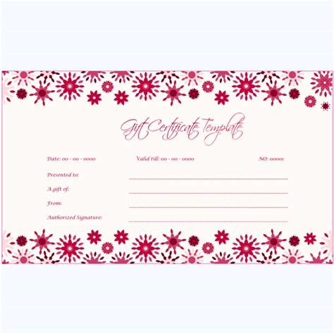 gift certificate  word layouts