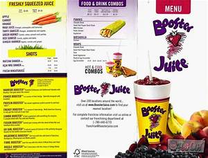 Booster Juice Nutrition