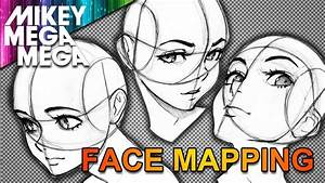 MAPPING THE FACE FOR ANIME & MANGA - YouTube