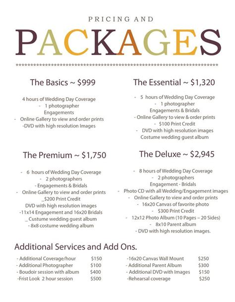 introducing  wedding photography pricing  packages