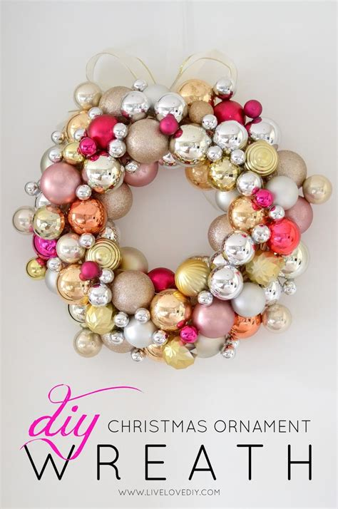 how to make a christmas ornament wreath for less than 10