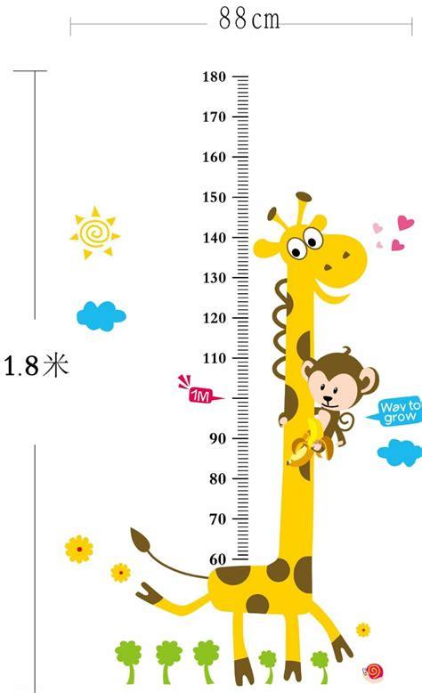 giraffe growth chart free shipping ay831 60 90cm giraffe growth chart diy 1218