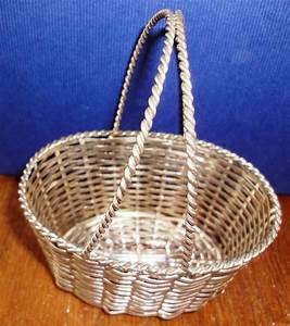 Antique, Silver, Wire, Baskets