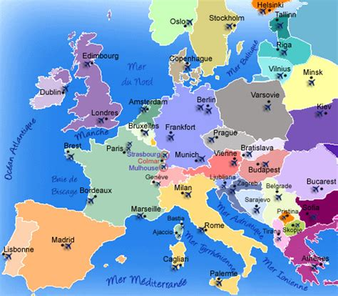 Carte Europe Et Capitale by Capitales D Europe