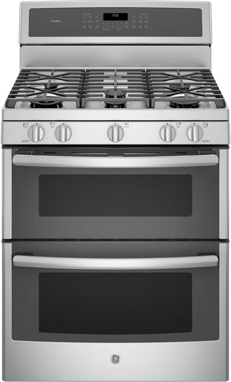 ge pgbzejss   freestanding double oven gas range  convection chef connect tri