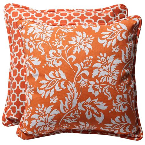 orange throw pillows home decorator shop