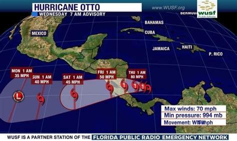 otto  latest hurricane   form  caribbean sea