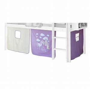 Lit Superposé Princesse : rideaux max pour lit superpos ou sur lev motif ~ Teatrodelosmanantiales.com Idées de Décoration