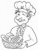 Baker Bread Bakker Panettiere Contorno Panadero Brood Coloring Mand Contour Omtrek Cesto Broodmand Clipart Cesta Pan Basket Granero Clip Smakelijk sketch template