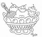 Coloring Dessert sketch template