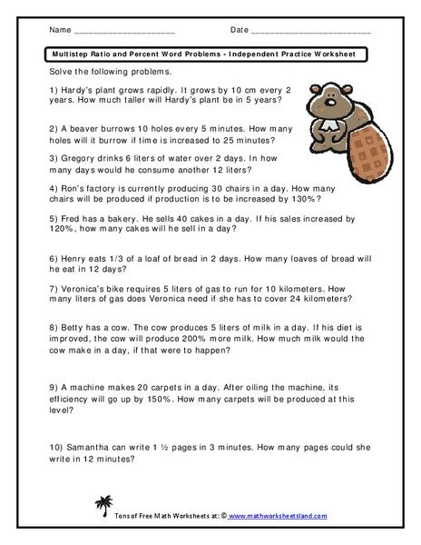 All Worksheets » Percentage Word Problems Worksheets Pdf  Printable Worksheets Guide For