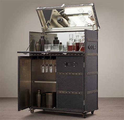 ludlow black trunk bar cabinet