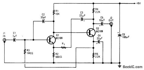Low Impedance Microphone Preamp Amplifier Circuit