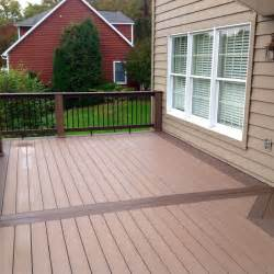 azek deck with timbertech builderrail and genovations brownstone post wraps contemporary